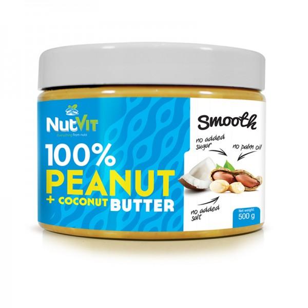 100% Manteiga de Amendoim + Côco 500g | OstroVit
